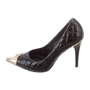 Tory Burch Quilted Patent Leather Pointed-Toe Pump